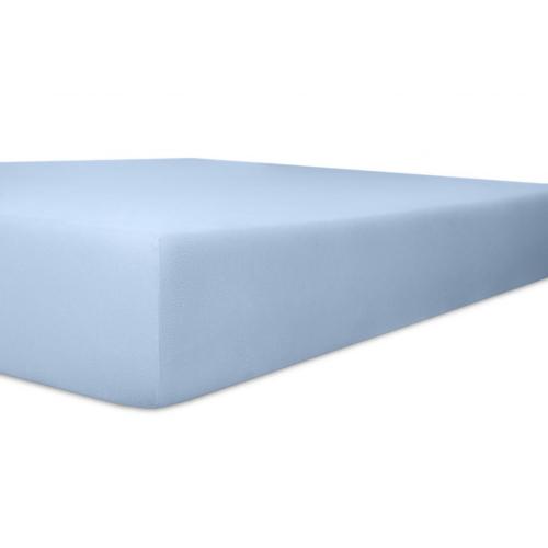 Kneer 50 Fein-Jersey Stretch-Betttuch 90x200cm hellblau