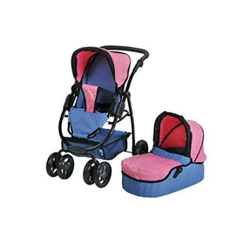 """KNORR TOYS Kombi-Puppenwagen """"Coco"""" (Farbe: jeans blue)"""