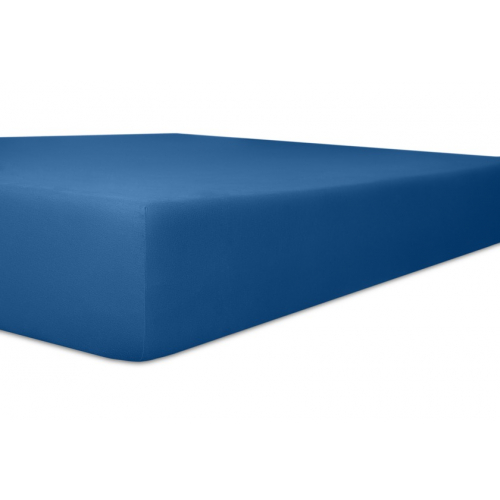 Kneer 50 Fein-Jersey Stretch-Betttuch 140x200cm kobalt