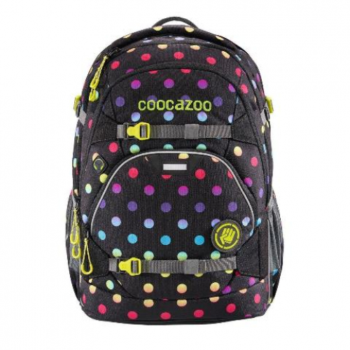 "COOCAZOO Schulrucksack ""ScaleRale"" größenverstellbar (Magic Polka Colorful)"