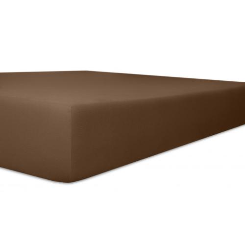 Kneer 50 Fein-Jersey Stretch-Betttuch 90x200cm mocca