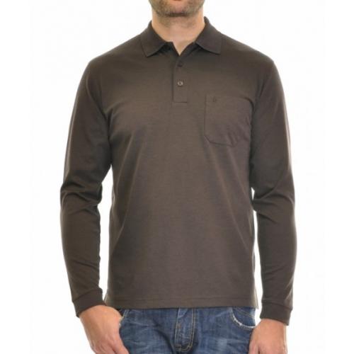 RAGMAN  Langarm Softknit Poloshirt