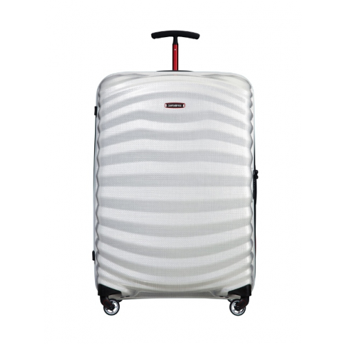 "SAMSONITE Trolley ""Lite-Shock Sport Spinner"" 75 cm offwhite-red"