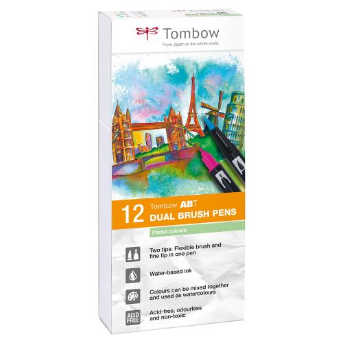 Tombow ABT Dual Brush Pens, 12er Set (pastel colors)