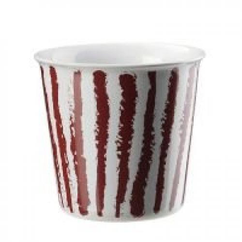 "ASA  Becher ""Lungo"" Coppetta , 250 ml (red stripes)"