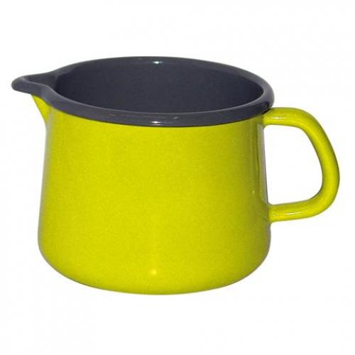 Riess KELOmat Design Schnabeltopf, Ø 12cm, 1 Lt (fresh lemon green/innen grau)
