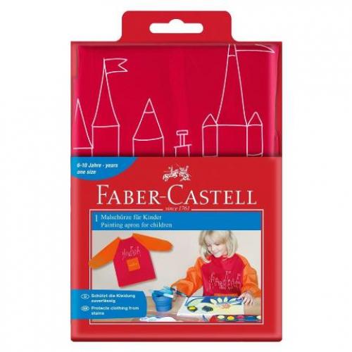 Faber-Castell Malschürze f. Kinder rot