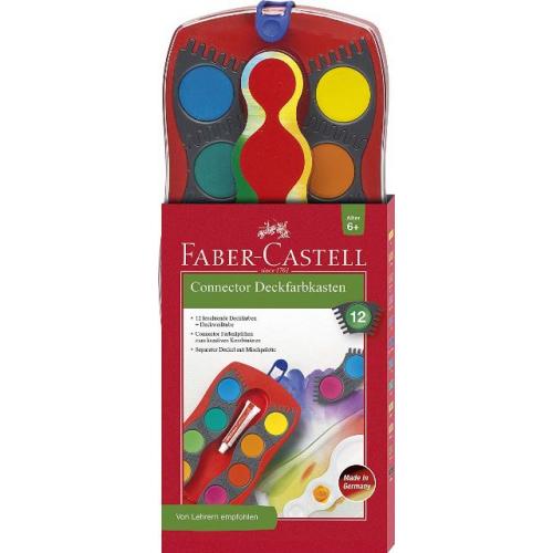 Faber Castell Connector Deckfarbkasten 12er (versch. Farben)