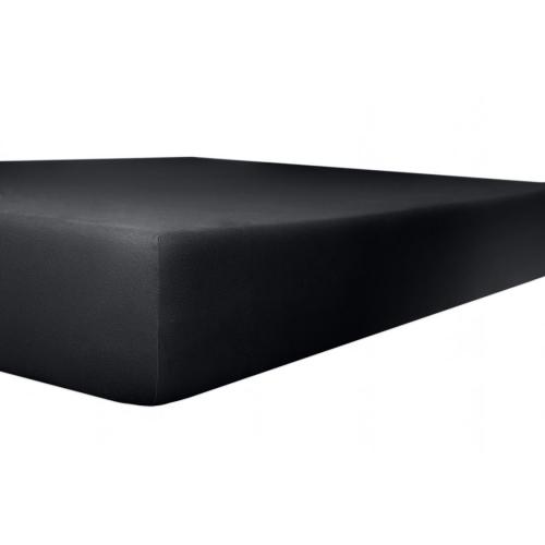 Kneer 50 Fein-Jersey Stretch-Betttuch 90x200cm schwarz