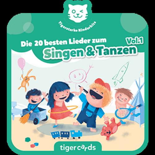 TIGERMEDIA tigercard: Die 20 besten Lieder zum Singen und Tanzen Vol.1