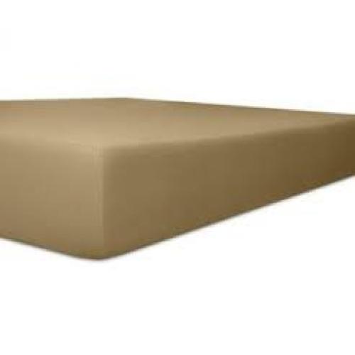 Kneer 50 Fein-Jersey Stretch-Betttuch 90x200cm toffee