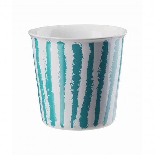 "ASA  Becher ""Lungo"" Coppetta , 250 ml (turquoise stripes)"