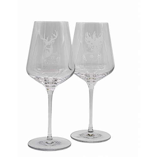 "Rot/Weißweinglas ""Adler"" 6er Set"