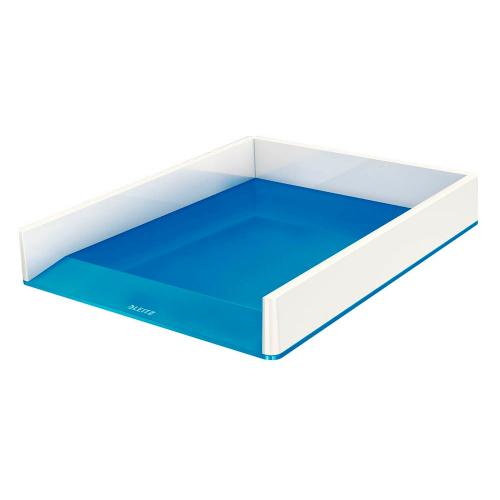 """LEITZ Briefkorb """"WOW"""", zweifarbig (weiss/blau)"""