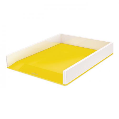 """LEITZ Briefkorb """"WOW"""", zweifarbig (weiss/gelb)"""