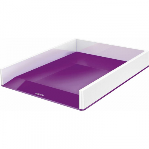 """LEITZ Briefkorb """"WOW"""", zweifarbig (weiss/violett)"""